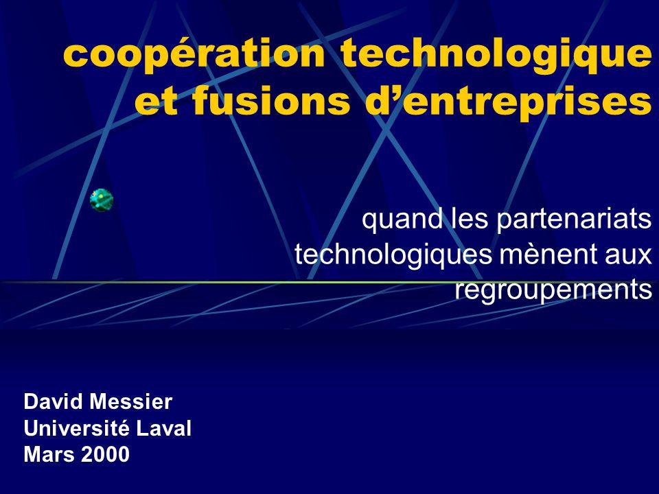 coopération technologique et fusions d'entreprises