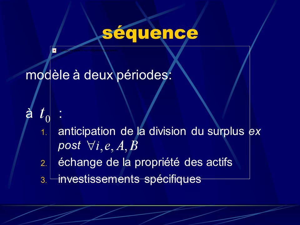 séquence modèle à deux périodes: à :