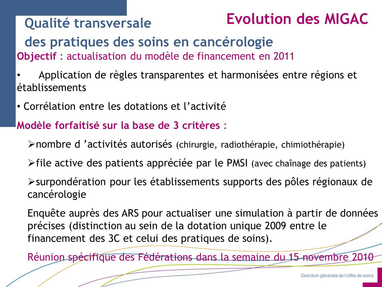 Evolution des MIGAC Qualité transversale