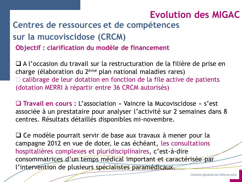 Evolution des MIGAC Centres de ressources et de compétences