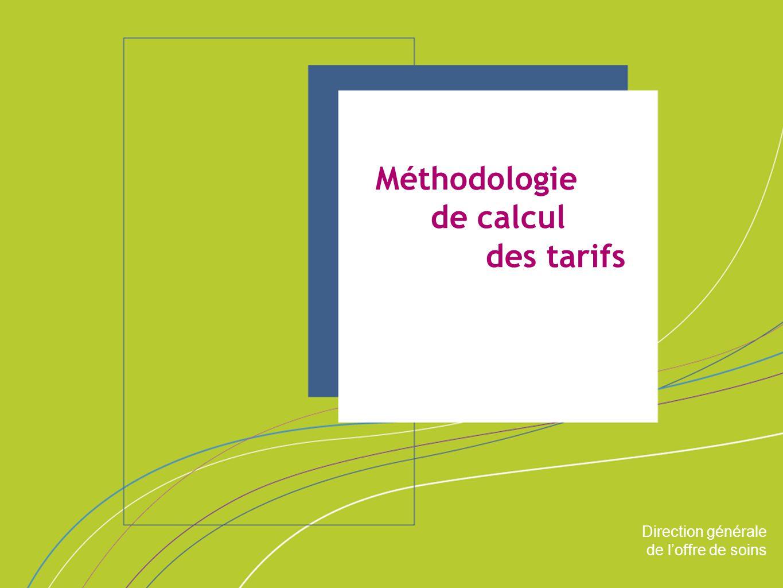 Méthodologie de calcul des tarifs ORGANISATION & MISSIONS