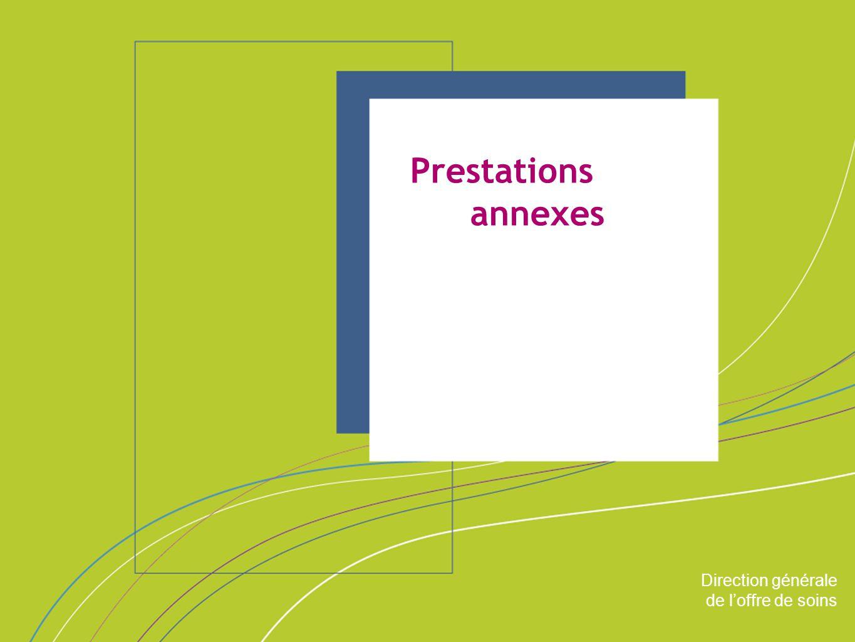 Prestations annexes ORGANISATION & MISSIONS Direction générale