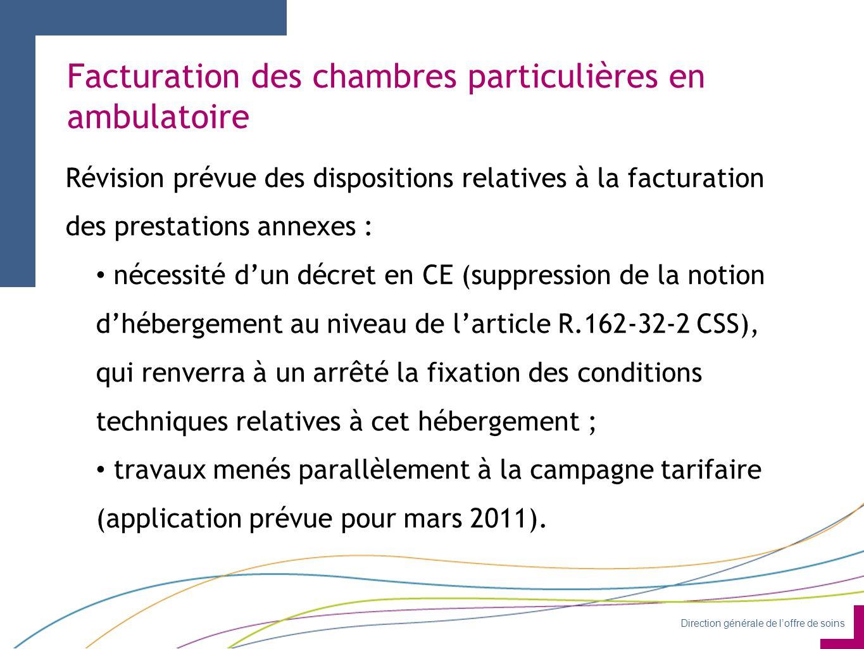 Facturation des chambres particulières en ambulatoire