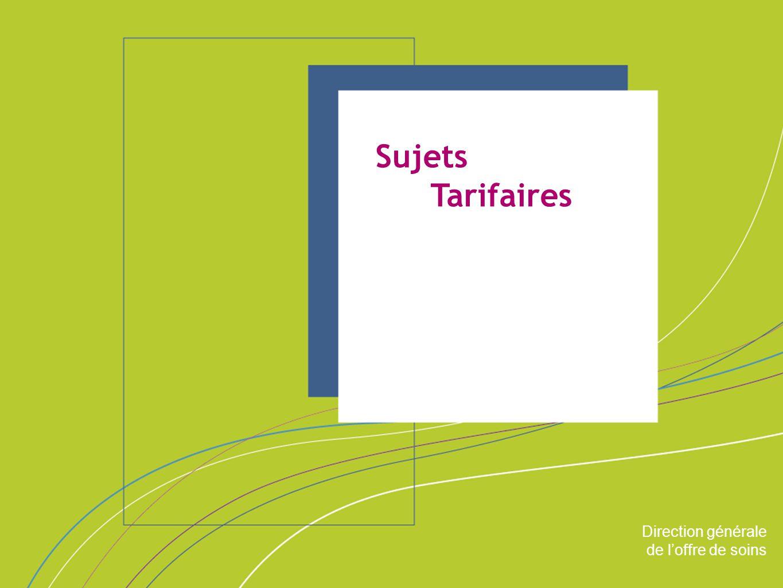 Sujets Tarifaires ORGANISATION & MISSIONS Direction générale
