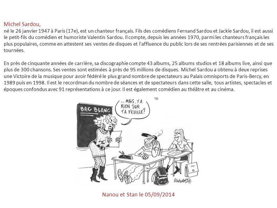 Michel Sardou, Nanou et Stan le 06/04/2017
