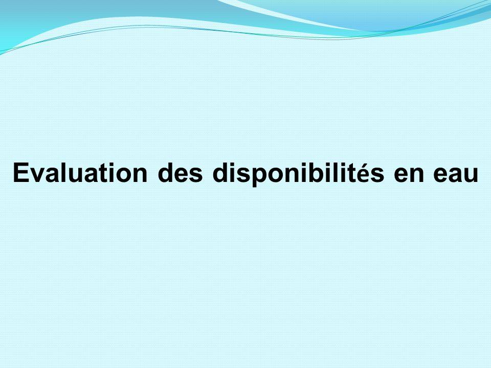 Evaluation des disponibilités en eau