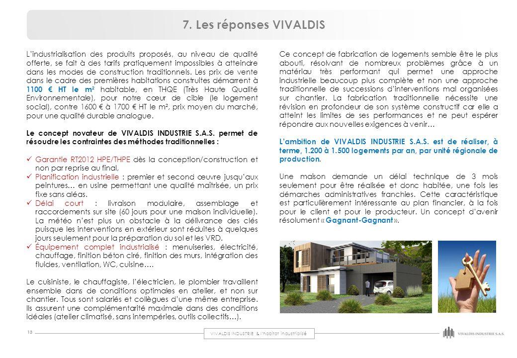 7. Les réponses VIVALDIS