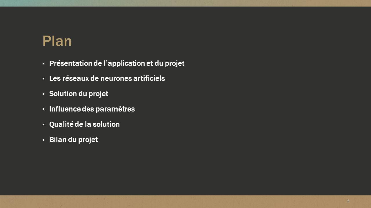 Plan Présentation de l'application et du projet