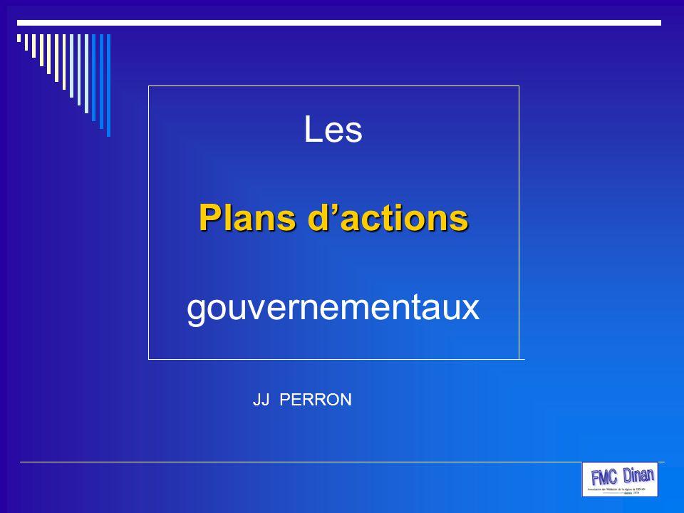 Les Plans d'actions gouvernementaux