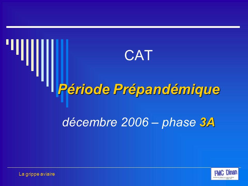 CAT Période Prépandémique décembre 2006 – phase 3A