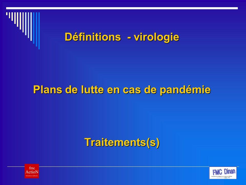 Plans de lutte en cas de pandémie