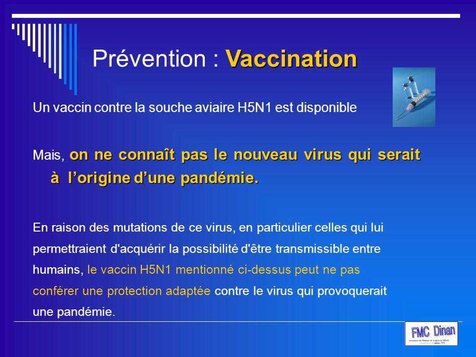 Prévention : Vaccination