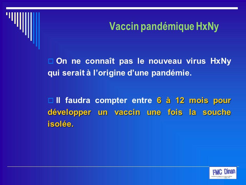 Vaccin pandémique HxNy