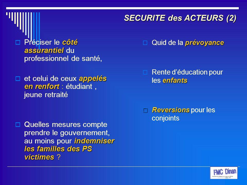 SECURITE des ACTEURS (2)