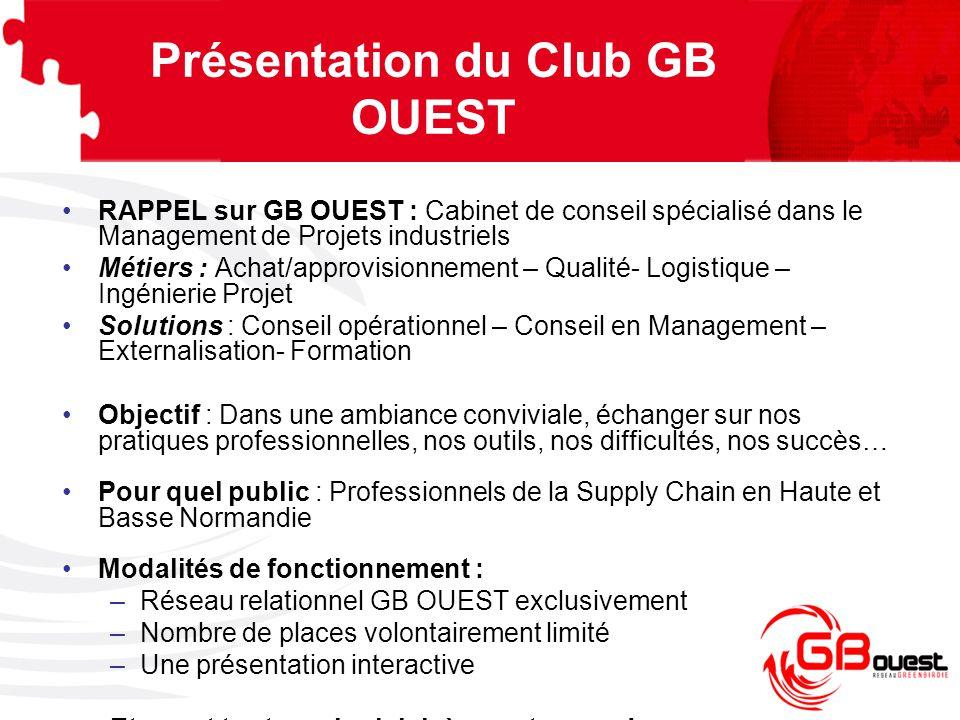 Présentation du Club GB OUEST