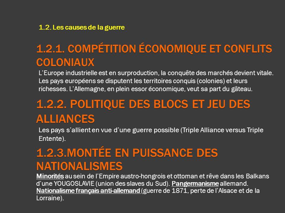 1.2.1. Compétition économique et conflits coloniaux