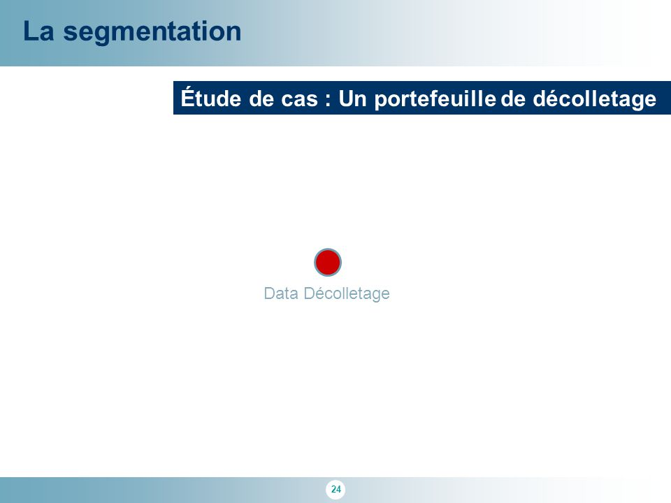La segmentation Étude de cas : Un portefeuille de décolletage