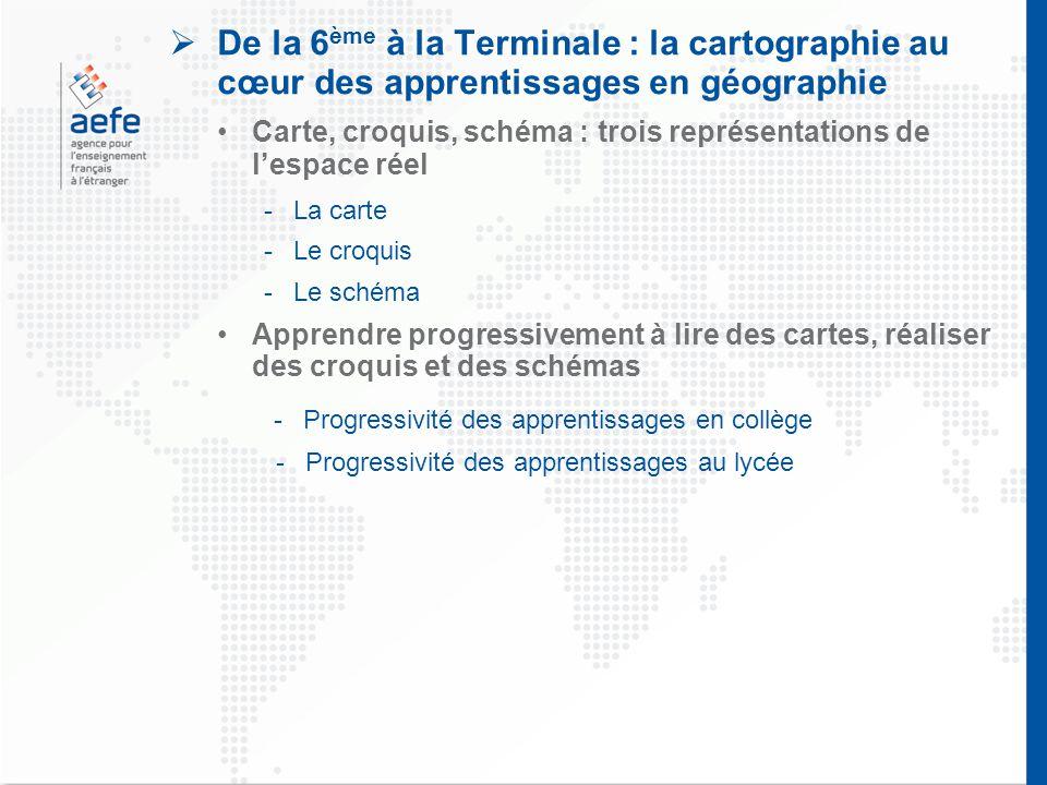 De la 6ème à la Terminale : la cartographie au cœur des apprentissages en géographie