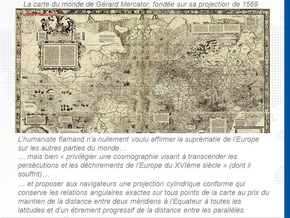 La carte du monde de Gérard Mercator, fondée sur sa projection de 1569