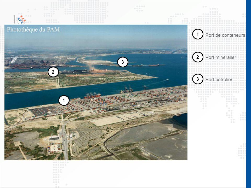 1 Port de conteneurs 2 Port minéralier 3 2 3 Port pétrolier 1