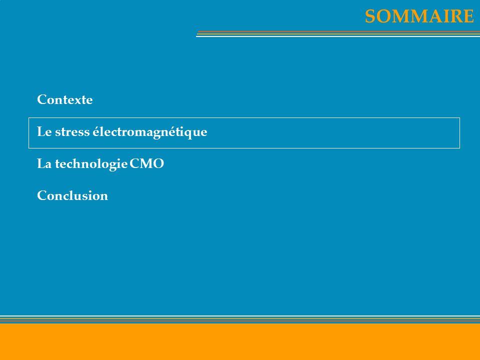 SOMMAIRE Contexte Le stress électromagnétique La technologie CMO