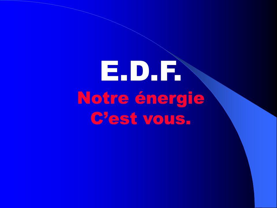 E.D.F. Notre énergie C'est vous.