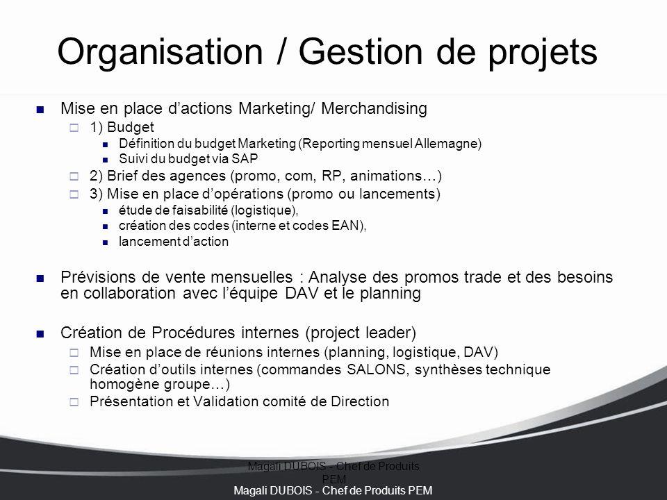 Organisation / Gestion de projets