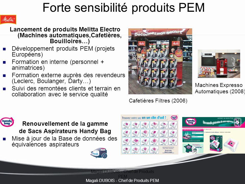 Forte sensibilité produits PEM
