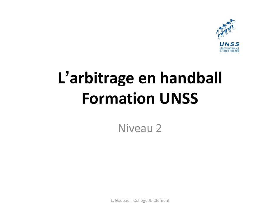 L'arbitrage en handball Formation UNSS