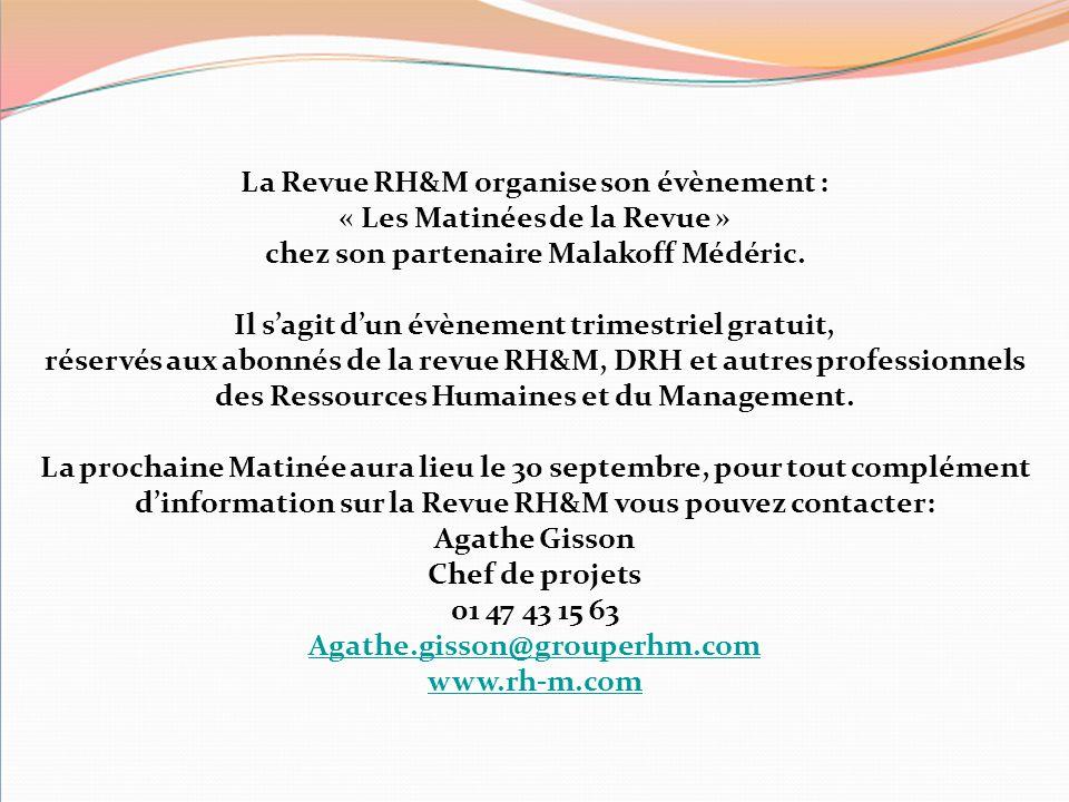 La Revue RH&M organise son évènement : « Les Matinées de la Revue »