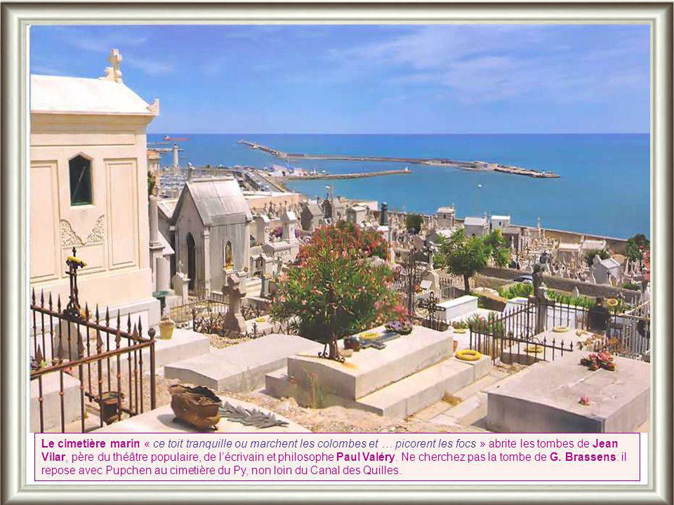 Le cimetière marin « ce toit tranquille ou marchent les colombes et … picorent les focs » abrite les tombes de Jean Vilar, père du théâtre populaire, de l'écrivain et philosophe Paul Valéry.
