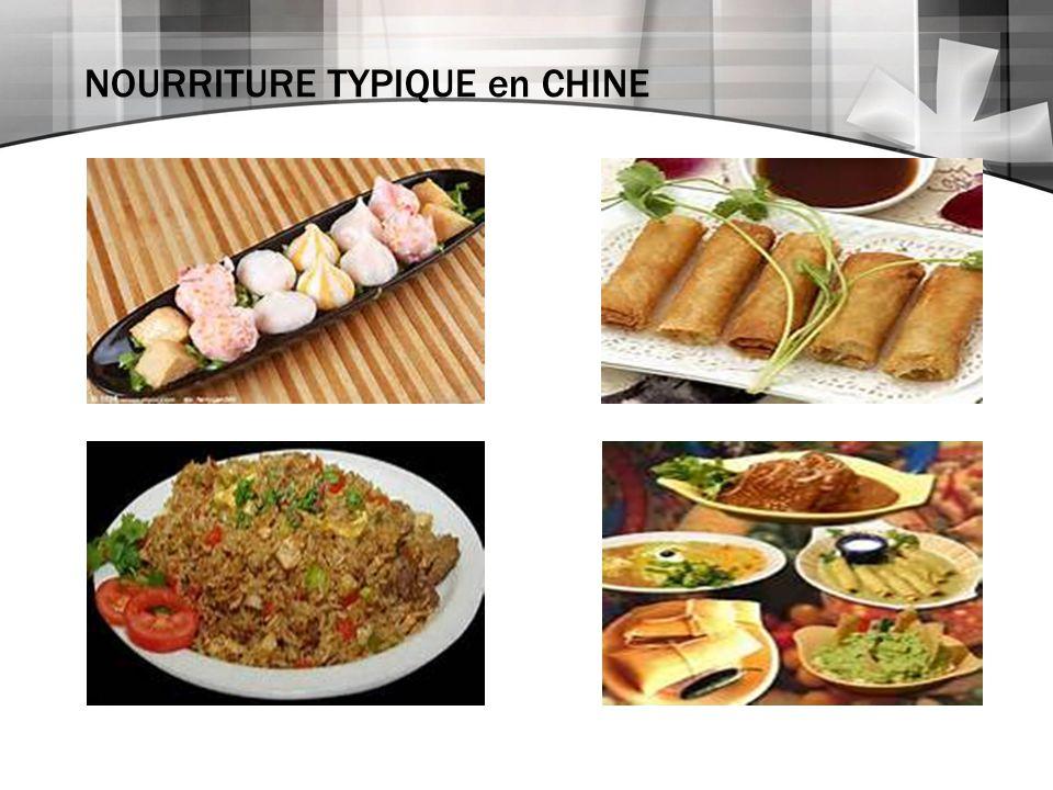 NOURRITURE TYPIQUE en CHINE