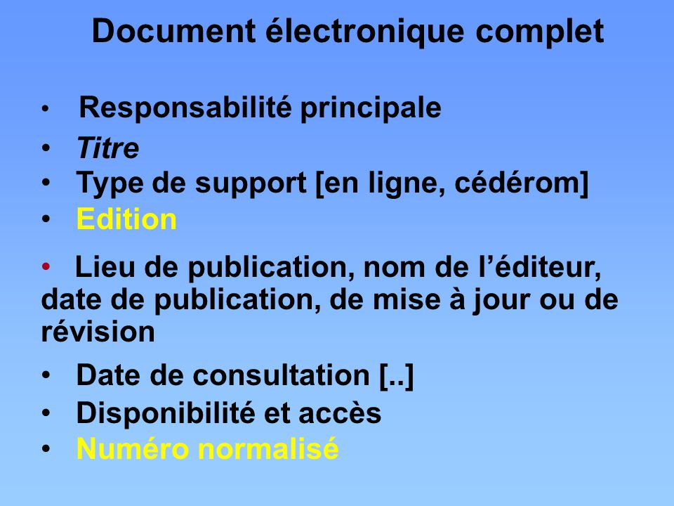 Document électronique complet