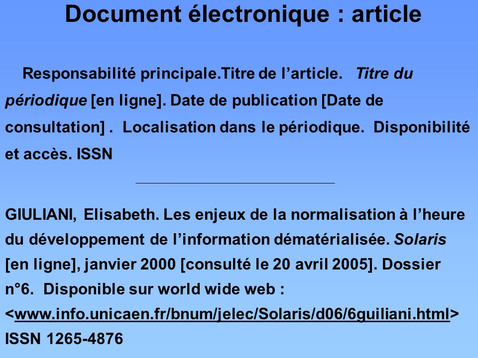 Document électronique : article