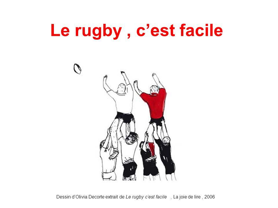 Le rugby c est facile dessin d olivia decorte extrait de le rugby c est facile la joie de - Dessin de joueur de rugby ...