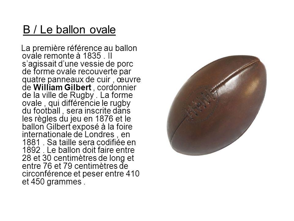 B / Le ballon ovale