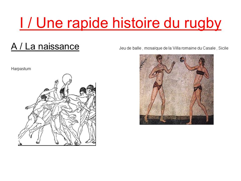 I / Une rapide histoire du rugby