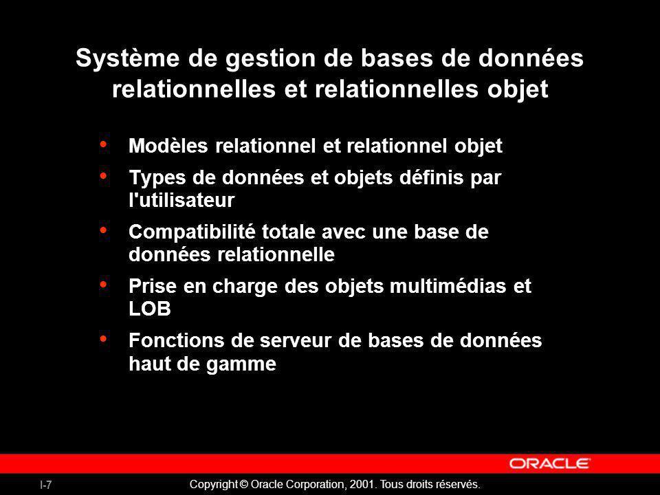 Système de gestion de bases de données relationnelles et relationnelles objet