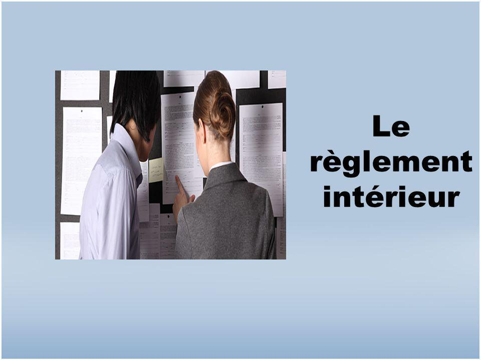 Les conditions l gales de travail ppt video online for Reglement interieur immeuble