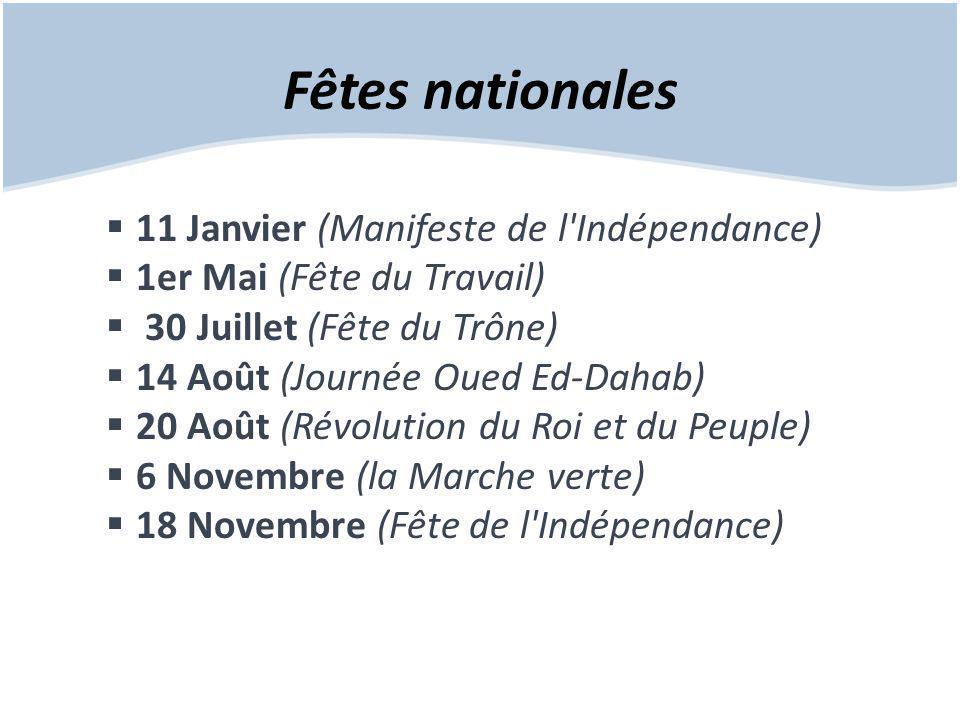 Fêtes nationales 11 Janvier (Manifeste de l Indépendance)