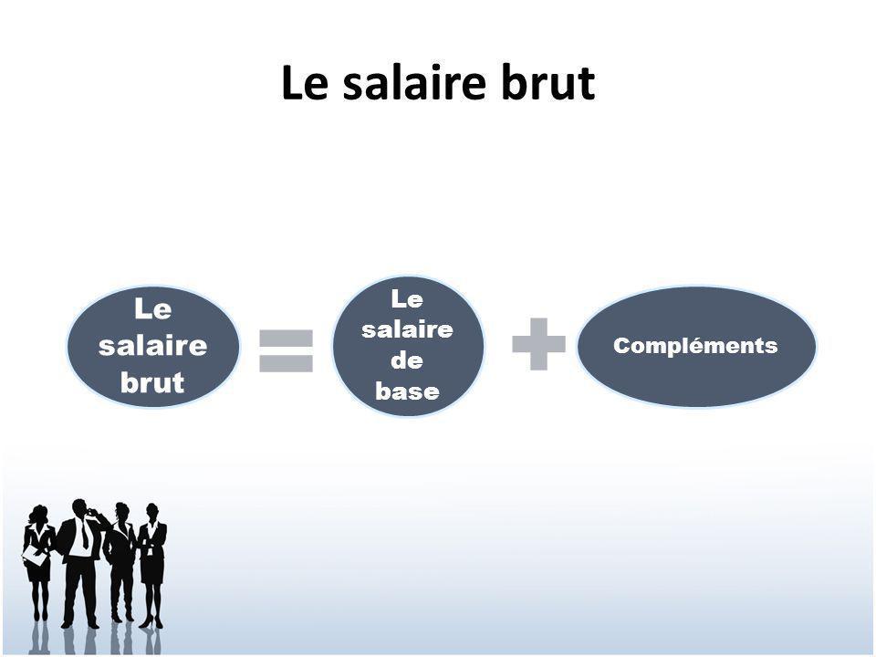 Le salaire brut Le salaire brut Le salaire de base Compléments