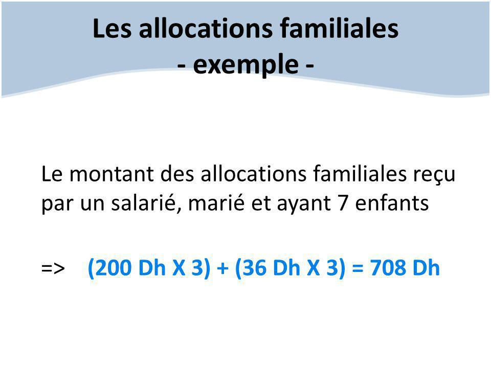 Les allocations familiales - exemple -