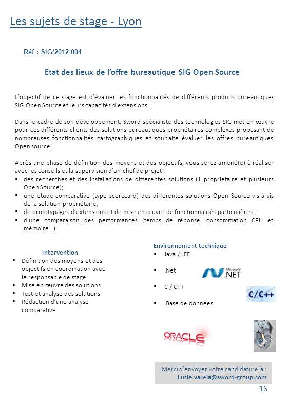 Etat des lieux de l'offre bureautique SIG Open Source