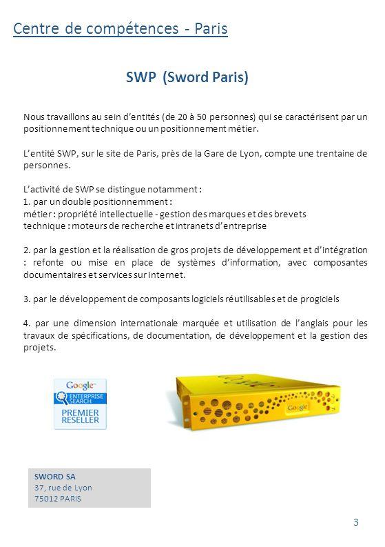 Centre de compétences - Paris