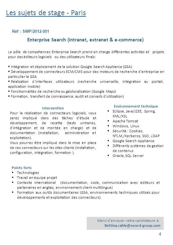 Enterprise Search (intranet, extranet & e-commerce)