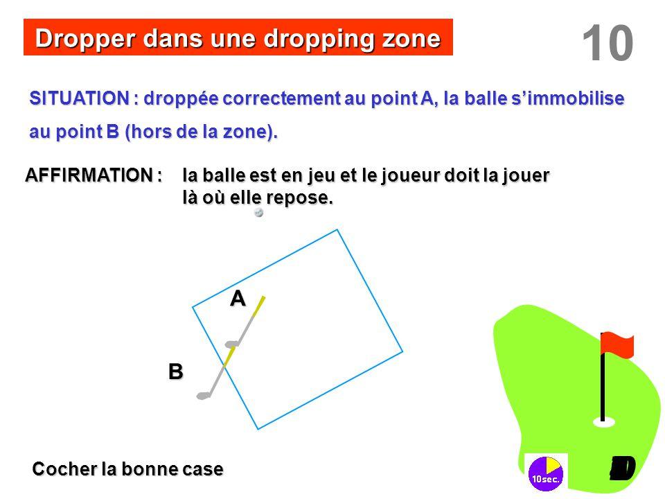 Dropper dans une dropping zone