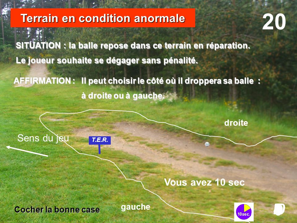 Terrain en condition anormale