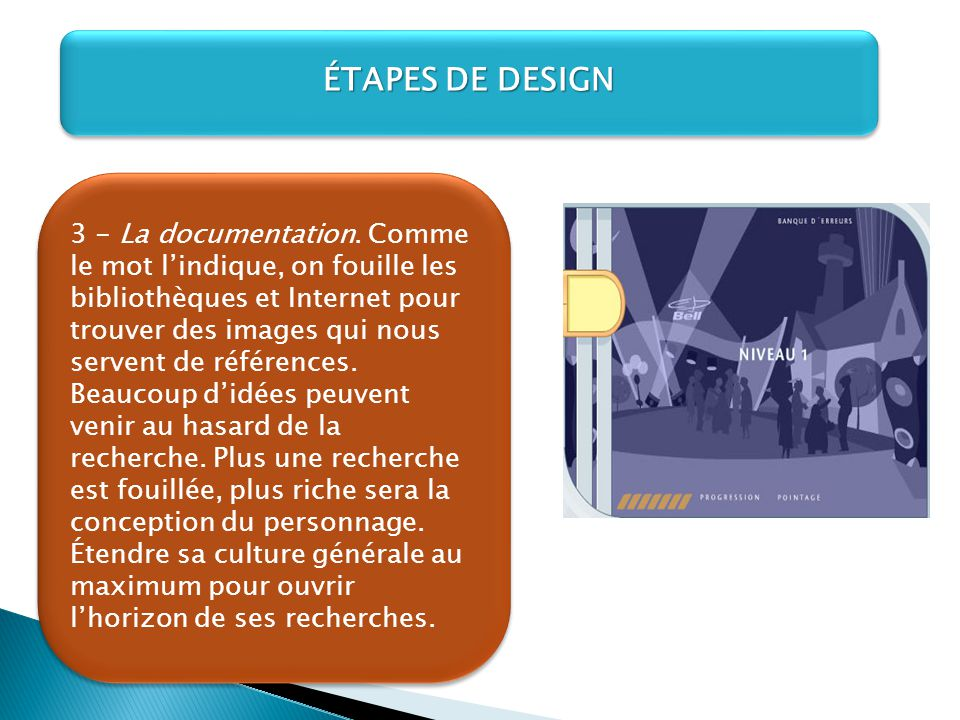 ÉTAPES DE DESIGN