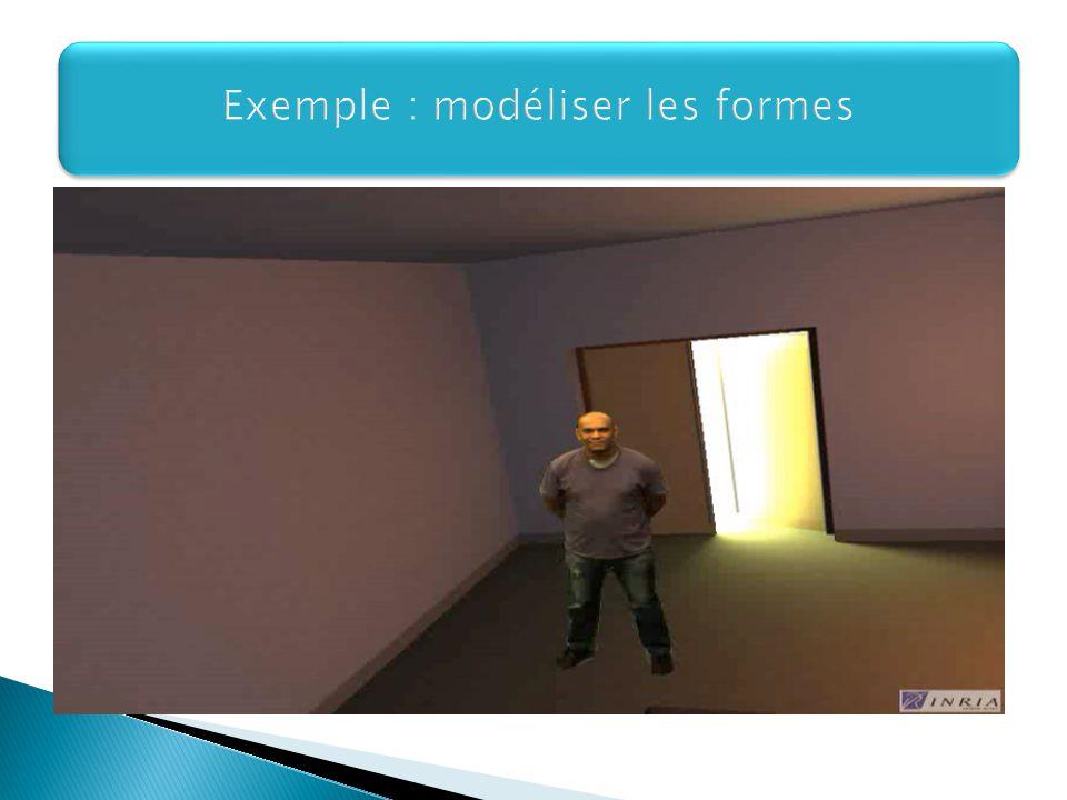 Exemple : modéliser les formes