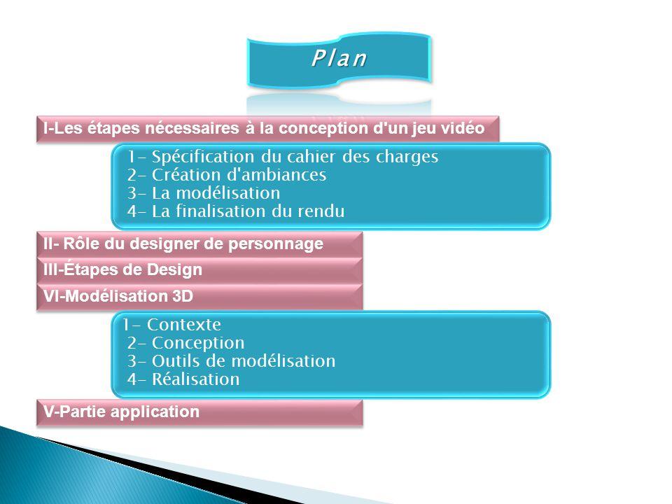 Plan I-Les étapes nécessaires à la conception d un jeu vidéo